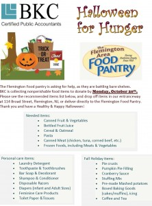 2014 Halloween Food Drive Flyer for Publish